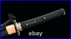 Panese Sword Samurai Katana Sharp Red Folded Damascus Steel Battle Knife Saber