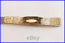 Parker JK-2D Damascus Folding Bowie Knife modeled after an IXL pattern Japan Tak