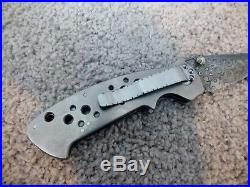 Pat And Wes Crawford Custom Handmade Folding Knife With Damascus Blade