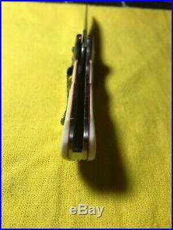 Pat Crawford Custom Kasper Fighter Damascus Folding Knife