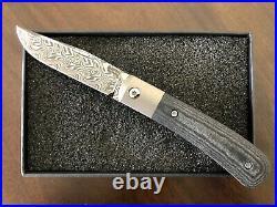 Pena X-Series Trapper Folding Knife Black Micarta Gysinge Damascus BNIB NEW