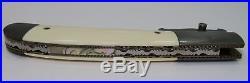 RARE CHUCK GEDRAITIS Custom DAMASCUS Blade, Bolsters & Guard Folding Knife