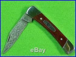 RARE US BUCK Custom Shop Limited Edition 1/18 Damascus Folding Pocket Knife
