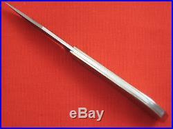 RICK NOWLAND Damascus Blade Mokume Handle Custom Slip-Joint Folding Knife Folder