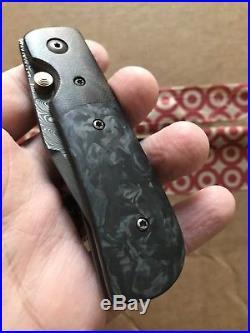Rainy Day Knives Custom Folding Knife (Damascus / Carbon Fiber)