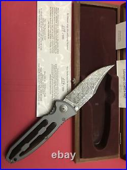 Rare Boker Eurofighter Damascus Folding Knife 110150DAM Limited Edition Germany