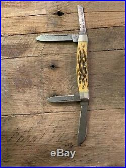 Rare Case Congress Raindrop Damascus Folding Pocket Knife