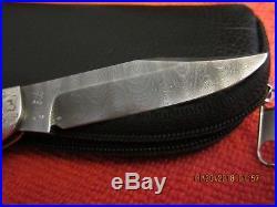 Rare Jim Corrado/Bill Buchner silver/damascus folding Knife