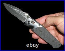 Rare! SOG Arcitech KNIVES VG-10 Carbon Fiber Damascus Folding Knife