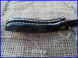 Rare Suchat Jangtanong Custom Folding Knife Damascus Steel Abalone Horn Rc#15