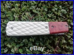 Rare Suchat Jangtanong Custom Tanto Folding Knife Laminate Damascus Steel Rc#05
