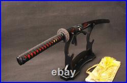 Red Japanese Samurai Katana Sword Folded Damascus Steel Espadas Sharp Knife