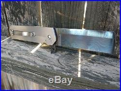 Reese Weiland Custom Slash Damascus EDC Folding Pocket Knife