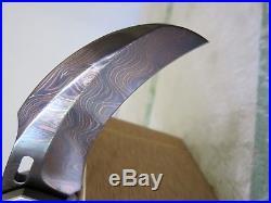 Reese weiland XL karambit damascus manual assist folding knife