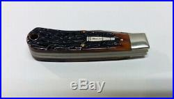 Remington R1173-D Damascus Sterling Bullet Folding Pocket Knife 1998 with Case