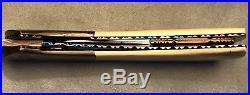 Rick Dunkerley (MS) USA Custom Mosaic Damascus Automatic Folding Knife- 90s NOS