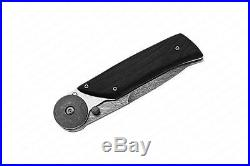 Russian Folding knife Biker-1 Kizlyar knives (Damascus steel, Hornbeam)