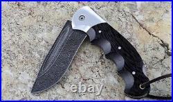 Russian Vorsma Hawk damascus folding blade vorsma knife combat hunting