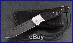 Russian Vorsma Raven damascus folding blade vorsma knife combat hunting