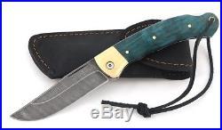 Russian Vorsma Taiga Damascus folding blade vorsma knife combat hunting birch