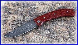 Russian Vorsma Taiga damascus folding blade vorsma knife combat hunting acrylic