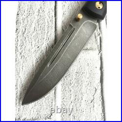 Russian folding knife TRAVEL COMPANION, handmade, DAMASCUS STEEL, HORNBEAM