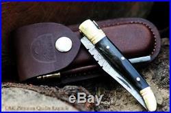 SALE DKC-62-BL BLACK PRINCE Laguiole Damascus Steel Folding Pocket Knife 4