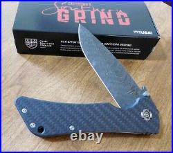 SOUTHERN GRIND New Carbon Fiber Bad Monkey Boomerang Damascus Blade Knife/Knives