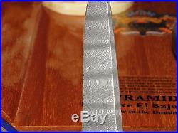 STEIGERWALT Custom Folding Knife Damascus Black Lip Pearl Spring Assisted