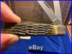 SUPER RARE PARKER EDWARDS 512 Layer DAMASCUS STeel 2 BLADE FOLDING KNIFE