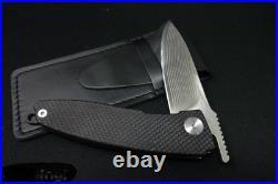Saji Takeshi'Chikiri' Damascus Blade G-10 Handle Handmade Folding Knife