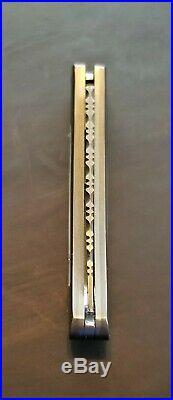 Santa Fe Stoneworks Damascus Mother of Pearl Inlay Folding Knife