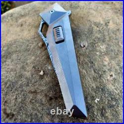 SixLeaf Camping VG10 Damascus Fast Open Flipper Pocket Folding Knife SL-04