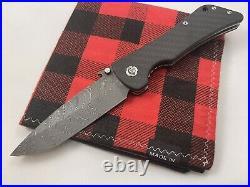 Southern Grind Bad Monkey Folding Knife 4 Boomerang Damascus Carbon fiber