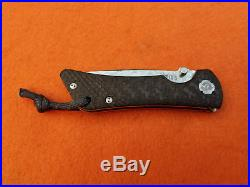 Southern Grind Spider Monkey Folding Knife Drop Pt Damascus Blade Carbon Handle