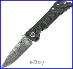 Southern Grind Spider Monkey Linerlock Carbon Fiber Folding Damascus Knife 21806