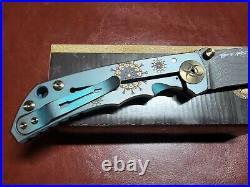 Spartan Blades Harsey Plague Doctor Damascus Patterned Steel Blade Folding Knife