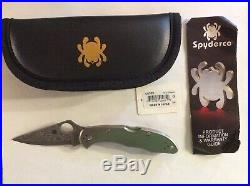 Spyderco Delica 4 Lockback Folding Knife 3 Damascus Steel Blade Titanium Handle