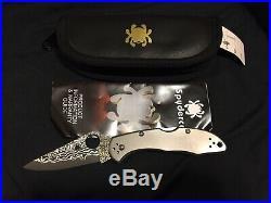 Spyderco Delica 4 Titanium / Damascus Folding Knife