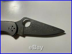 Spyderco Delica 4 Titanium Damascus Folding Knife