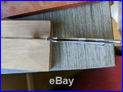 Spyderco Delica 4 Titanium / Damascus Folding Knife C11TIPD, Plain Edge Blade