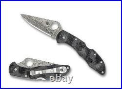Spyderco Delica 4 ZOME Black Gray FRN Pocket Knife C11ZPGYD Damascus Blade