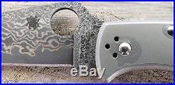 Spyderco Endura 4 C10tipd Titanium Damascus Folding Knife No Stock Photos