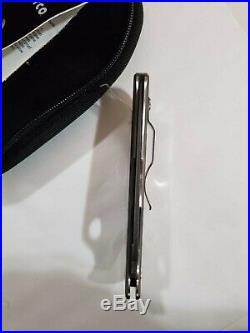 Spyderco Endura 4 Titanium / Damascus Folding Knife C10TIPD, Plain Edge Blade