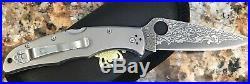 Spyderco Endura 4 Titanium Damascus Steel Lockback Folding Blade Knife