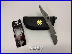 Spyderco Endura 4 Titanium Folding Pocket Knife, Damascus Blade C10TIPD