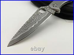 Spyderco Endura 4 Titanium Handle VG-10 Damascus Blade C10TIPD Folding Knife