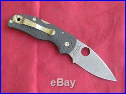 Spyderco Native 5 40th Anniv Stainless Damascus Folding Lockback Knife, Nr Mint