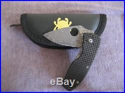 Spyderco damascus Persistence Folding Knife 2-3/4 Plain Blade carbon fiber