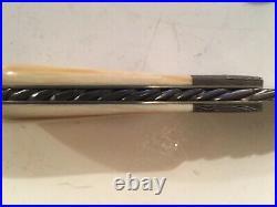 Steve Schwartz Custom Handmade Damascus Slip-Joint Folding Knife-Fat Handle Slab
